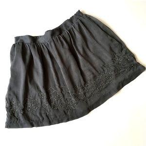 *3/$30* Jennifer Lopez Beaded Floral Skirt - NWOT